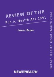 Review of the Public Health Act 1991 - the National Competition ...