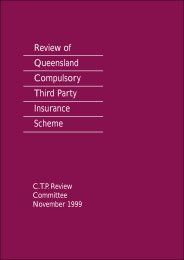 Qld review of the Motor Accident Insurance Act 1994, November ...