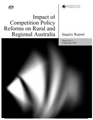 Impact of Competition Policy Reforms on Rural and Regional ...