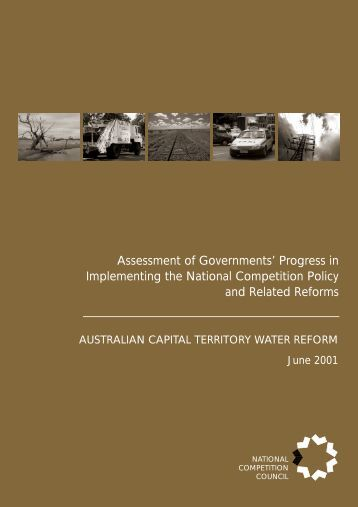 Water Trading - the National Competition Policy Website - National ...