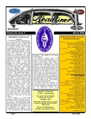 Volume 25, Issue 3 March 2009 March 17 (Tuesday) PRESIDENTS ...