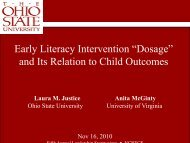 """Early Literacy Intervention """"Dosage"""" and Its Relation to ... - NCRECE"""
