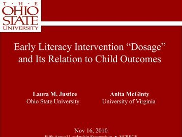 "Early Literacy Intervention ""Dosage"" and Its Relation to ... - NCRECE"