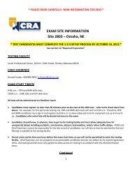 EXAM SITE INFORMATION Site 2803 – Omaha, NE - staging.files ...