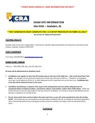 Exam Site Information - staging.files.cms.plus.com