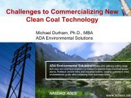 Challenges to Commercializing New Clean Coal Technology