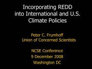 Incorporating REDD into International and U.S. Climate Policies