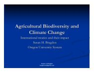 Agricultural Biodiversity and Climate Change