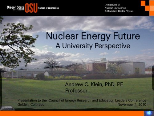 Nuclear Energy Future - National Council for Science and the ...