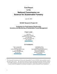 Final Report - National Council for Science and the Environment