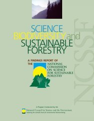 Science, Biodiversity, and Sustainable Forestry - National Council ...