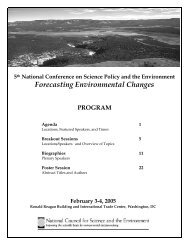 2005 Conference Program (pdf) - National Council for Science and ...
