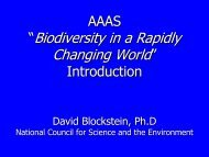 """""""Biodiversity in a Rapidly Changing World"""""""" - National Council for ..."""
