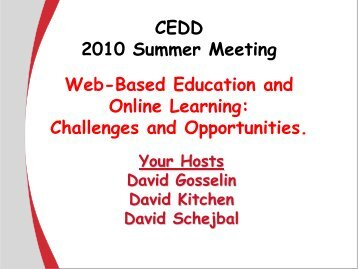 Web-Based Education and Online Learning: Challenges and ...