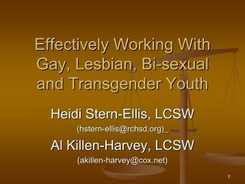Effectively Working With Gay, Lesbian, Bi-sexual and Transgender ...