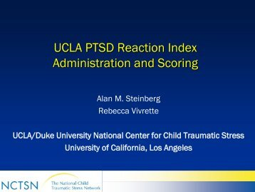 UCLA PTSD Reaction Index Administration and Scoring