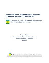 Perspectives on Environmental Program Curricula and Core ...
