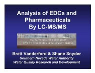 Analysis of EDCs and Pharmaceuticals By LC-MS/MS