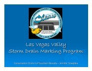 Las Vegas Valley Storm Drain Marking Program - Nevada Division of ...