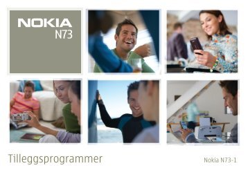 Tilleggsprogrammer - Nokia
