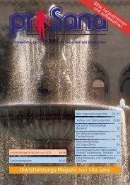 Dienstleistungs-Magazin von vita sana