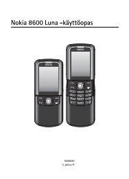 Nokia 8600 Luna -käyttöopas