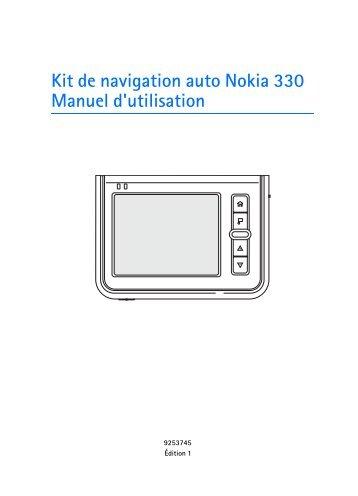 Kit de navigation auto Nokia 330 Manuel d'utilisation