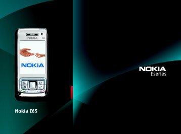 Nokia E65 Configuring connection settings