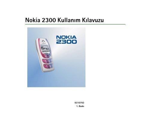 Pdf Nokia 2300 Kullanim Kilavuzu