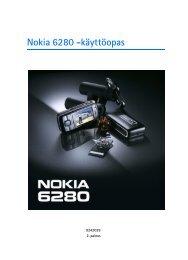 PDF Nokia 6280 Käyttöopas