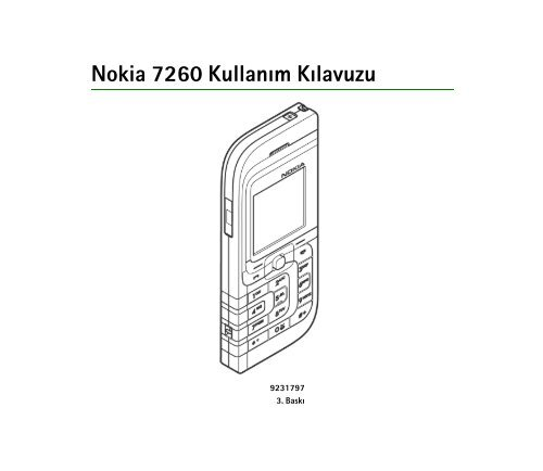 Pdf Nokia 7260 Kullanim Kilavuzu