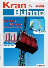 Kran & Bühne, November 2004: Titelseite