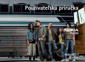 Pouūívateåská príručka - Nokia
