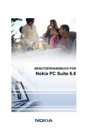User's Guide for Nokia PC Suite 6.8