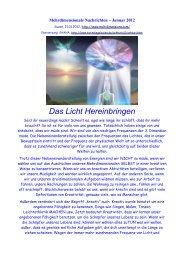 Mehrdimensionale Nachrichten Januar 2012 arcturi - NEBADONIA