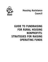 Guide to Fundraising for Rural Nonprofits - Housing Assistance ...