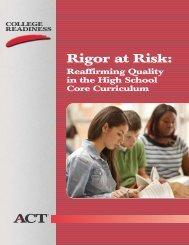 Rigor at Risk - Eric - U.S. Department of Education