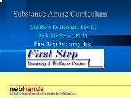 Substance Abuse Curriculum - Nebhands