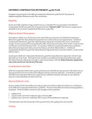 Deferred Compensation Plan 457(b) - University of Nebraska