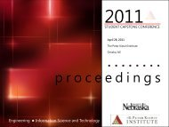 p r o c e e d i n g s - The Peter Kiewit Institute - University of Nebraska