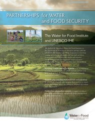 Partnership Activities - The Water for Food Institute - University of ...