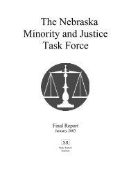 The Nebraska Minority and Justice Task Force Final Report