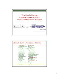 Ten Trends Shaping Child Mental Health Care Child Mental ealth Ca e