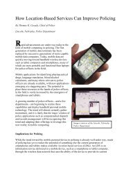 How Location-Based Services Can Improve Policing - University of ...
