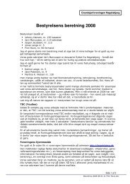 Formandens beretning 2008 - Høgelsbjerg