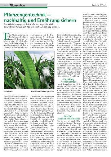 Pflanzengentechnik - Dr. Neinhaus Verlag AG