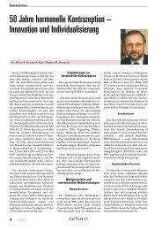 50 Jahre hormonelle Kontrazeption – Innovation und ...