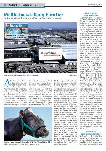 EuroTier 2012 - Dr. Neinhaus Verlag AG