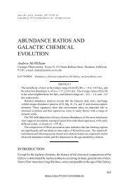 abundance ratios and galactic chemical evolution - NED