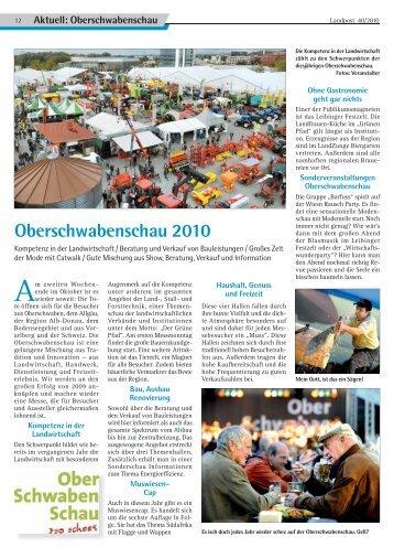 Oberschwabenschau 2010 - Dr. Neinhaus Verlag AG